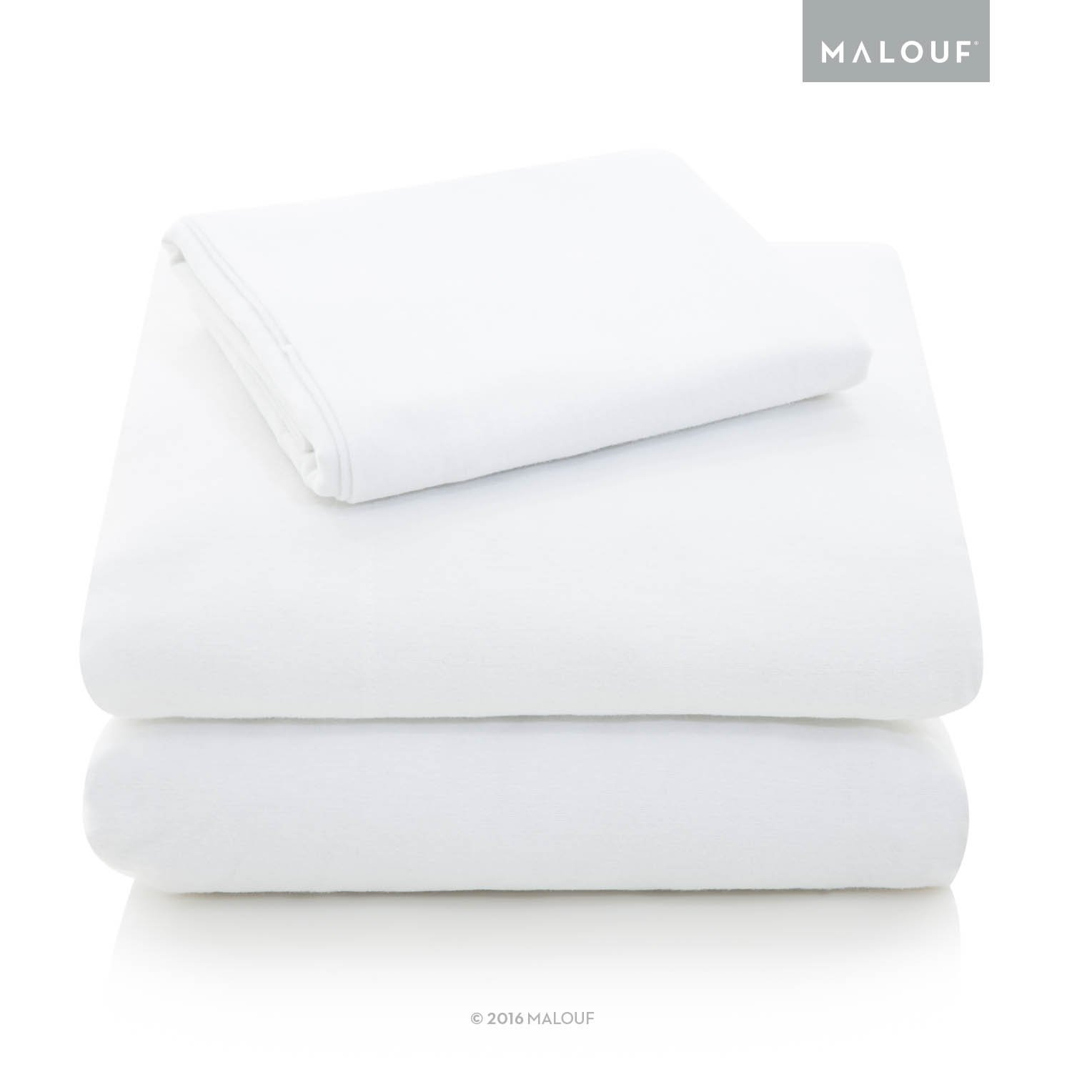 Woven Heavyweight Portuguese Flannel Sheet Set - 100% Cotton Pill Resistant Bedding - King - White