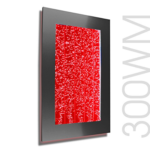 Bubble Panel Wall Mount Hanging Fountain 300WM Bublewall (Black with 44 Key Wireless Remote)