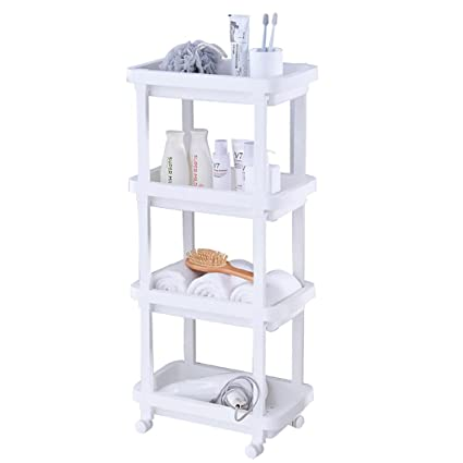 Amazon Com 4 Tier Slide Out Kitchen Trolley Rack Storage Organiser