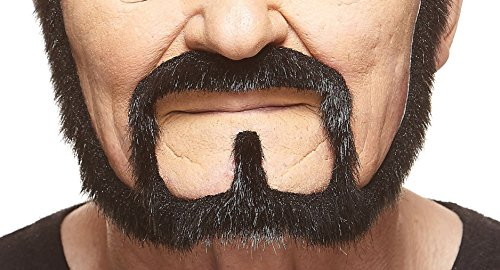 Halloween Facial Hair - Squatter black lustrous fake beard, self adhesive
