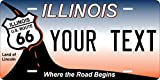 chengdar732 Illinois Route 66 State Personalized Custom Novelty Tag Vehicle Car Auto Motorcycle Moped Bike Bicycle License Plate