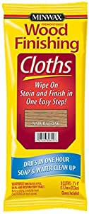 Minwax 308200000 Wood Finishing Cloths, Natural Oak