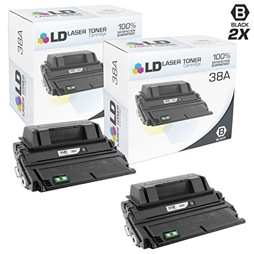 LD Compatible Toner Cartridge Replacement for HP 38A Q1338A (Black, 2-Pack)
