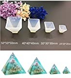 resin molds silicone - Pyramid Jewelry Casting Molds Silicone Resin Jewelry Molds for DIY Jewelry Craft Making By Garloy,The Multi-faceted Silicone Mold for Making Polymer Clay, Crafting, Resin Epoxy(Pack of 4)