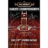 Karate Kid 10 Cast Autographed 12x18 Tournament Posters with Multiple Inscriptions - Authentic Autograph