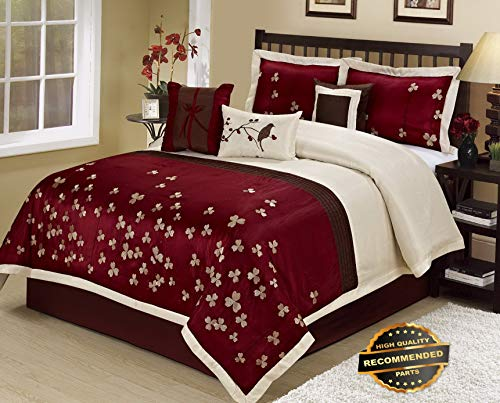 Ellyly Premium New 7 Piece Vienna Embroideried Comforter Set Queen King Calking Size | Style CMFTR-120218958 | California King