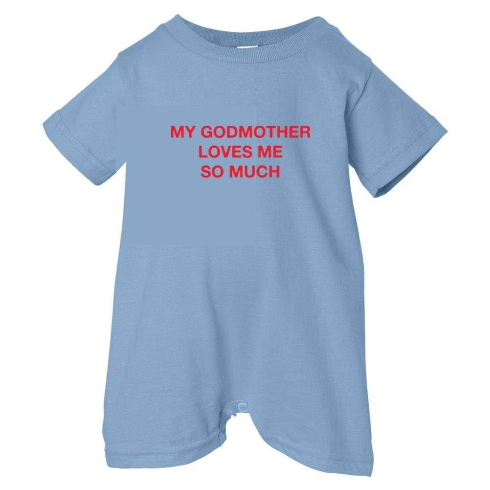 So Relative Unisex Baby My Godmother Loves Me So Much T-Shirt Romper
