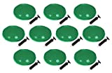 Trademark Innovations 13″ Diameter Fitness and Balance Disc Seat (Set of 10), Green Review