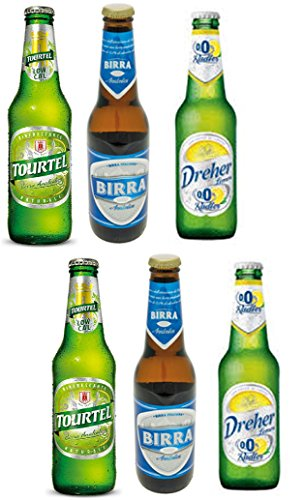 Vittleitaly: Non-alcoholic Beer Variety Pack - Includes Three Different Non-alcoholic Beers 11.15 Fluid Ounce (33cl) Bottle (Pack of 6) [ Italian Import ] Inbev Anheuser Busch