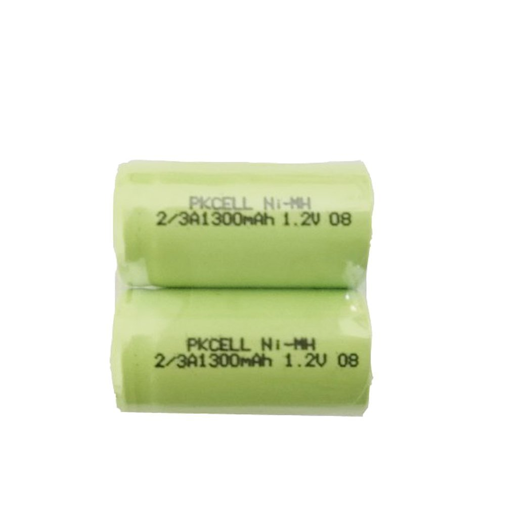 1.2v 2/3A Ni-MH Rechargeable Batteries 1300mAh (2pc) pkcell 4330206358