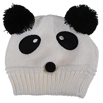 Amazon 6 Colors Baby Dual Ball Panda Hat Wool Knitted Crochet