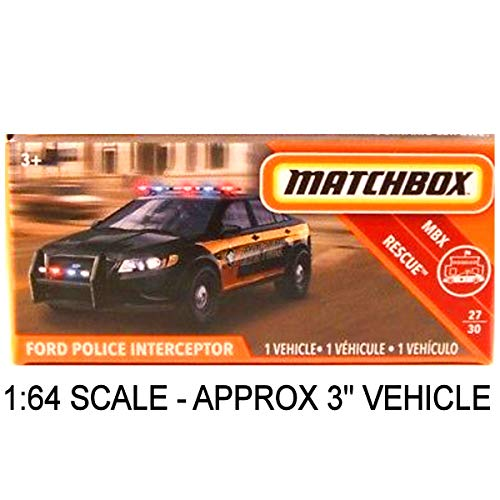 Matchbox Power Grabs Ford Police Interceptor Taurus State Police Black (Approx: 3