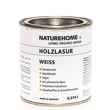 Super NATUREHOME Holzlasur Weiß 375 ml für Innen Holzschutz BH91