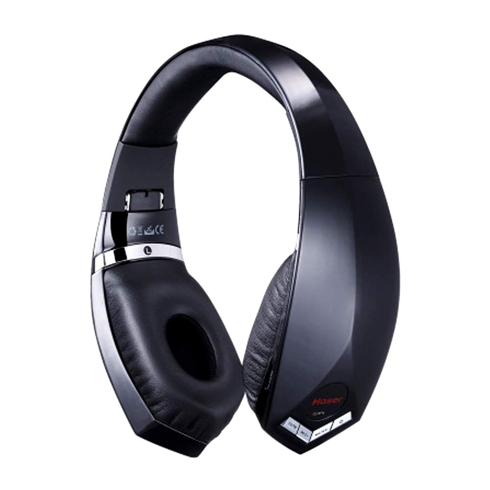XHN Over Ear Wireless Headset, Bluetooth 4.0 with Foldable, Soft Memory-Protein Earmuffs, Deep Bass Wireless Headphones, The Best Gift for Men-Black