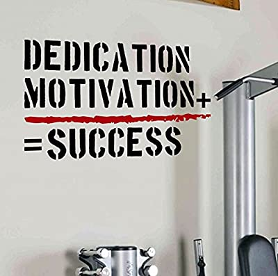 Dedication+Motivation=Success Workplace Wall Decal Quote