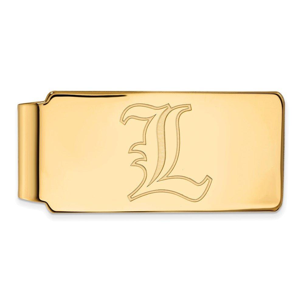14k Yellow Gold LogoArt Official Licensed Collegiate University of Louisville UofL Money Clip