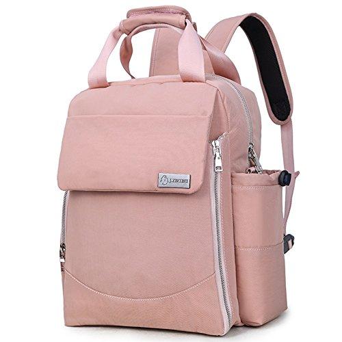 Doble hombro de múltiples funciones de gran capacidad Mummy bolsa, bolso, materna y el paquete de producción infantil, las mujeres embarazadas salir bolsa de la moda de la mamá ( Color : Negro ) Light pink