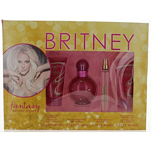 FANTASY BRITNEY SPEARS by Britney Spears EAU DE PARFUM SPRAY 1.7 OZ BODY SOUFFLE 1.7 OZ SHOWER GEL 1.7 OZ EAU DE PARFUM SPRAY .33 OZ