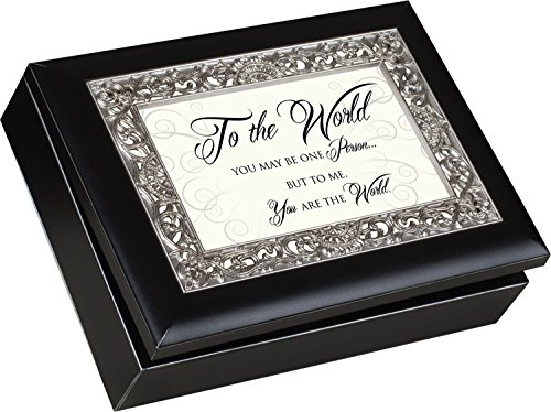 UPC 633303247133, To The World Matte Black Jewelry Music Box Plays Song Wonderful World