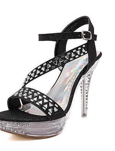 ZQ Zapatos de mujer-Tac¨®n Robusto-Tacones-Tacones-Casual-PU-Negro / Blanco , white-us8 / eu39 / uk6 / cn39 , white-us8 / eu39 / uk6 / cn39 black-us6.5-7 / eu37 / uk4.5-5 / cn37