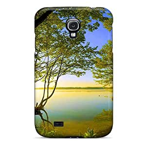 HTV8477bDrt Anti-scratch Cases Covers Welchmoibe1999 Protective Side Lake Cases For Galaxy S4