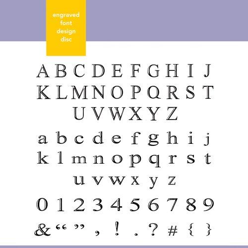 (Xyron Engraved Font Design Disc for Xyron Design Runner)