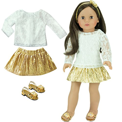18 Inch Doll Clothing Outfit, 4 Pc Special Occasion Dress