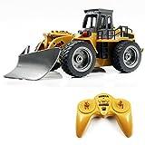 RC Shovel Truck, WOLFBUSH 6CH Remote Control Shovel Snow Car Construction Vehicles Children Gift Kids Toy Car, 1:18