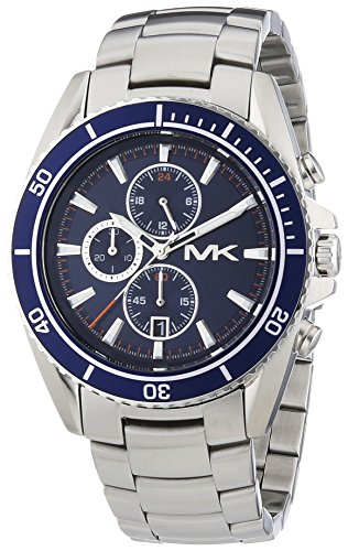 Michael Kors Men's JetMaster Chrono Stainless Steel Navy Blue Dial