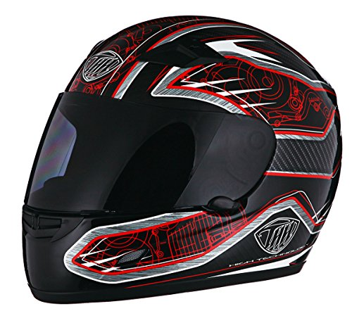 Thh Full Face - THH TS-39 Motor Helmet Black and Red Large