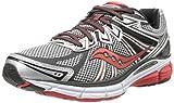 Saucony Men's Omni 13 Running Shoe,Silver/Red/Black,10 M US