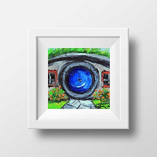 Amazon.com: Fine art signed giclee print of a Hobbit House from the ...