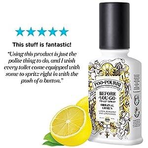Poo-Pourri Before-You-Go Toilet Spray 4 oz Bottle, Original Citrus Scent