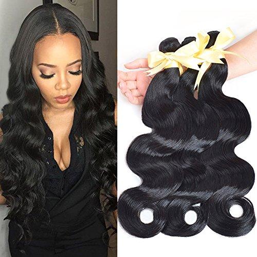 Lin Hair Peruvian Virgin Human Hair Weave Bundles Body Wave Weft Extensions Natural Color