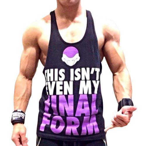 Final Form Singlet | Stringer Gym Bodybuilding, ZYZZ Y Back Racerback DBZ Golds