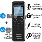 16GB Digital Voice Activated Recorder for Lectures - Eztecpro 580 Hours Sound Audio