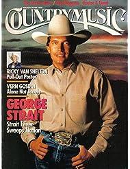 Country Music Magazine March April 1990 George Strait, Ricky Van Shelton, Vern Gosdin, Suzy Bogguss