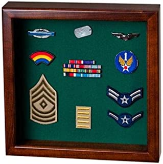 product image for Flag Display Case showcases Both The Flag and Military Awards.