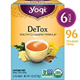 Yogi Tea - DeTox - Healthy Cleansing Formula - 6 Pack, 96 Tea Bags Total