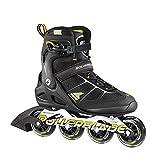 Rollerblade Macroblade 80 Alu 16 All Around Skate, Black/Yellow, US Size 8