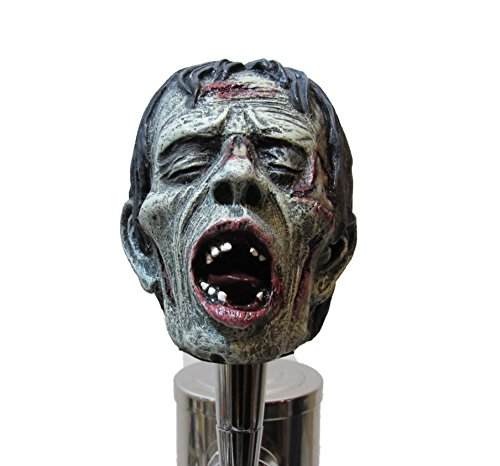 Realistic Zombie Head Beer Tap Handle Sports Bar Kegerator Resin Breweriana