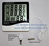 Digital Egg Incubator Thermometer Hygrometer Celsius / Fahrenheit with Sensor BRAND NEW
