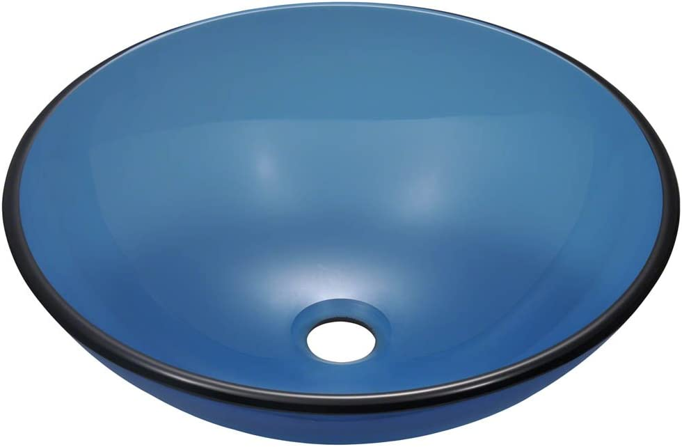 P106 Aqua Colored Glass Vessel Sink