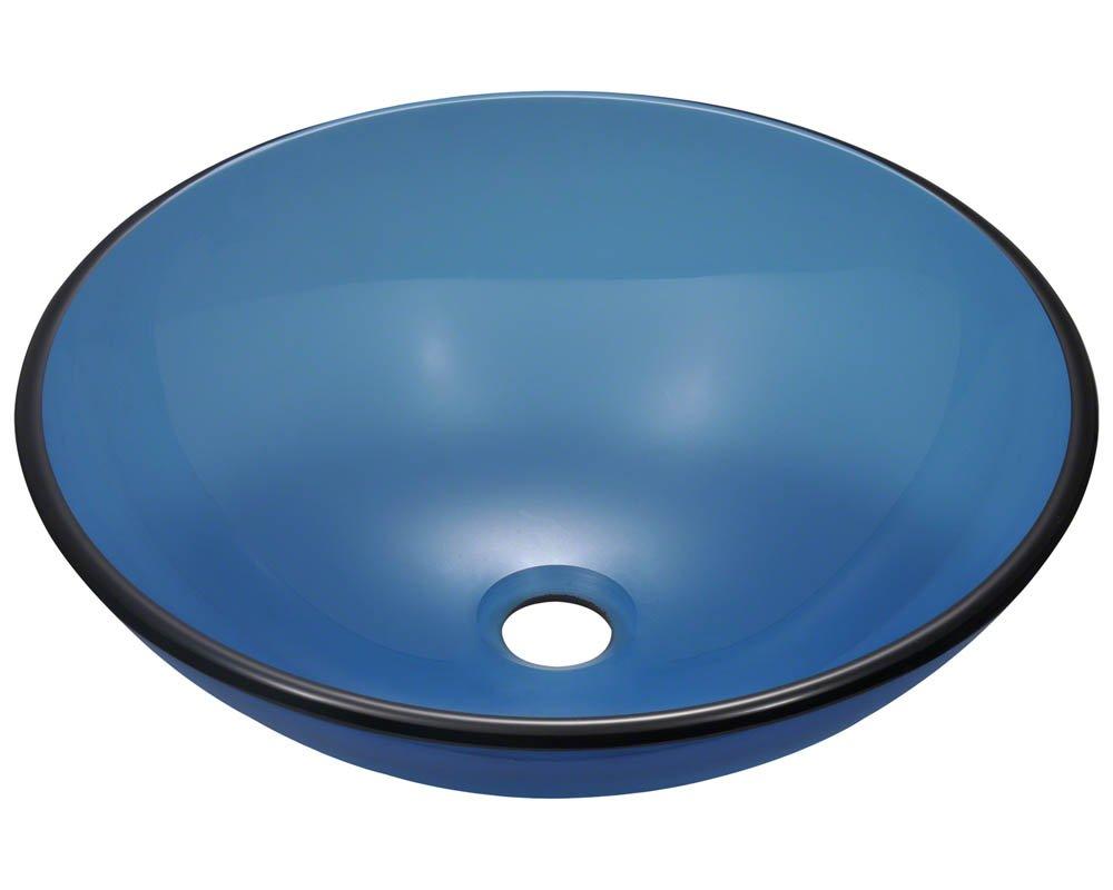 P106 Aqua Colored Glass Vessel Sink