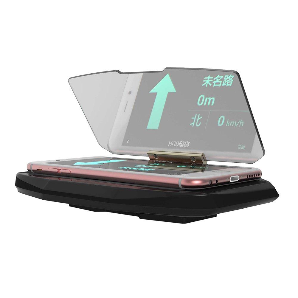 KKmoon Neue 6.5Inch Smartphone Holder HUD Navigation Hä nde frei HD Reflexion Head Up Display Halter Halterung