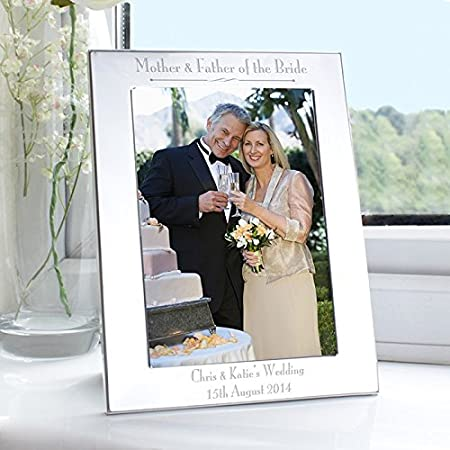 Personalised Silver 5x7 Decorative Mother & Father of the Bride ...