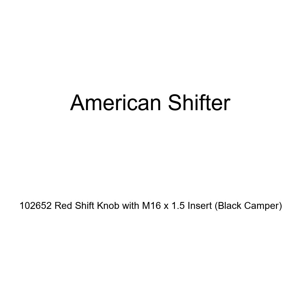 American Shifter 102652 Red Shift Knob with M16 x 1.5 Insert Black Camper