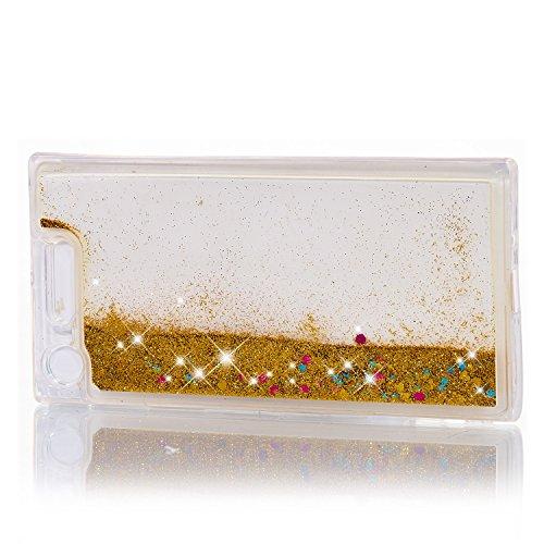 Coque Anti Quicksands Etui Sables Silicone Transparente Sony Coffeetreehouse Antichoc Paillette Mouvants Rayures Xperia Liquide TPU 3D XZ1 rHr6A