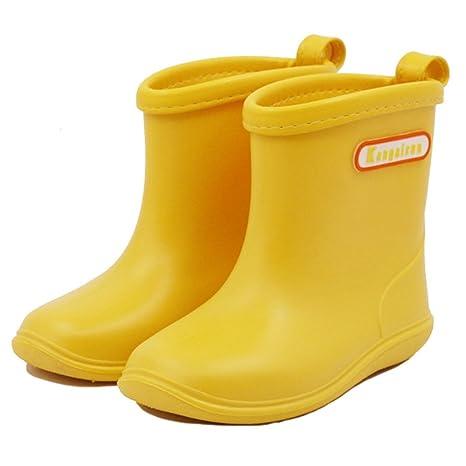 6adb9b65ea85 Kids Wellies Baby Rubber Rain Boots Boys Girls Waterproof Wellington Water  Shoes  Amazon.ca  Luggage   Bags