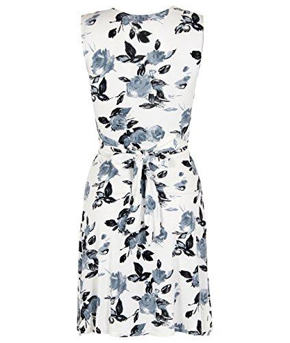 KRISP Women's Casual Rose Knot Front V Neck Summer Dress Plus Size